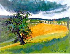 Landschaft bei Cetona, Toskana, 2002 menz-sander.de