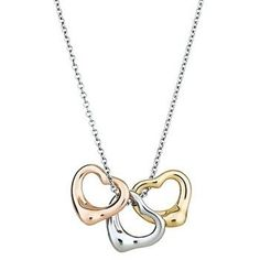 Tiffany Elsa Peretti Necklaces Tiffany Elsa Peretti Open Heart Charms Necklace