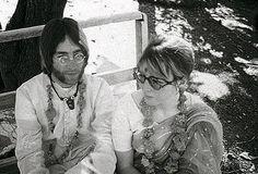 John and Cynthia Lennon (in India)