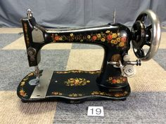 SERVICED WORKS GREAT ANTIQUE 1891 SINGER VS2 FLORAL TREADLE SEWING MACHINE HEAD #Singer.  Beautiful!