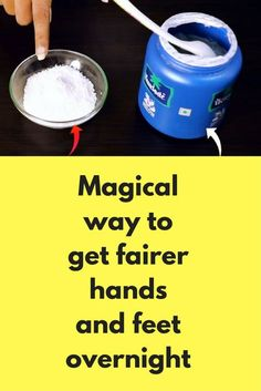 Magical way to get fairer hands and feet overnight Today I will share one instant trick to get fair hands super fast. This is a quick manicure trick that works really super fast This is a simple way where we scrub our hands to remove dead skin layer, it w Daily Beauty Tips, Home Beauty Tips, Beauty Hacks, Diy Beauty, Beauty Secrets, Beauty Products, Homemade Beauty, Beauty Solutions, Natural Solutions