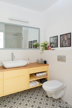 Update your bathroom tile with dixie belle paint company. Floor Design, House Design, Beach Dining Room, Contemporary Shower, Ikea, Toilet Room, Shower Units, Yellow Bathrooms, Palette