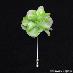 Chevron lime green chiffon flower men's lapel flowers men's fashion accessories spring summer 2014 boutinerres