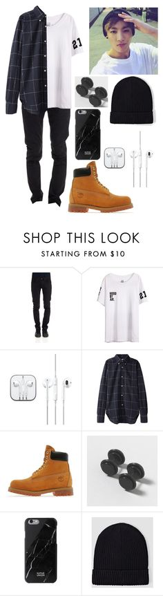 """""""Jungkook"""" by livylash ❤ liked on Polyvore featuring CYCLE, Our Legacy, Timberland, Native Union and AllSaints"""