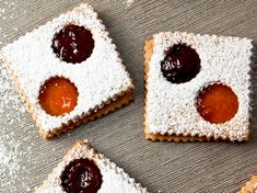 Lunettes- like Linzer cookies but you get two flavors of jam and this recipe uses hazelnuts