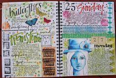 beautiful journaling @Alexis Garriott Garriott Garriott R Taylor du jour