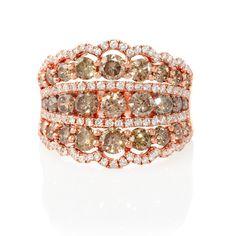 2.90ct Diamond 18k Rose Gold Ring