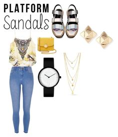 """""""Platform Sandals Contest"""" by lildae on Polyvore featuring River Island, Marc Jacobs and Valentino"""