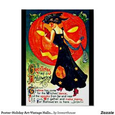 Poster-Holiday Art-Vintage Halloween 26 Poster