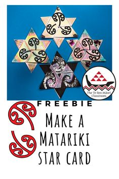 Matariki Star cards are beautiful and easy to make. You and your whānau will have fun making a variety of Matariki Stars to celebrate Māori New Year. Get creative with your stars and write your wishes and goals for the New Year in them. Hawaiian Tribal Tattoos, Samoan Tribal Tattoos, Tribal Tattoos For Men, Maori Tattoos, Polynesian Tattoos, Hand Tattoos, Sleeve Tattoos, Classroom Freebies, Art Classroom