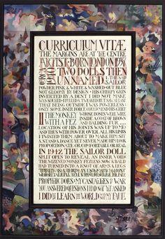 Curriculum Vitae I Tom Phillips, Frank Auerbach, Renaissance Men, Art School, Curriculum, Mosaic, Toms, Portraits, Artists