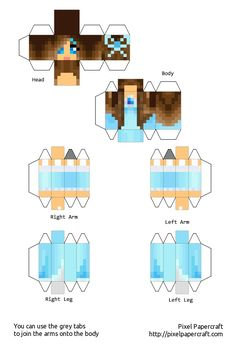 1000 images about minecraft skins on pinterest for Cute papercraft templates