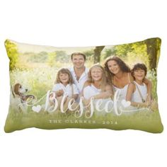 Holiday Blessings | Holiday Photo Throw Pillow 40% off all pillows #blackfriday
