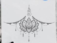 Boho Tattoos, Up Tattoos, Life Tattoos, Body Art Tattoos, Hand Tattoos, Tattos, Sternum Tattoo Lotus, Simple Mandala Tattoo, Small Girly Tattoos