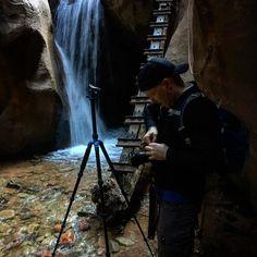 Behind the scenes of setting up a product shot.  The infamous Josh Terry @joshterryphoto is in this shot..    #rockagator #ruletheelements #joshterry #thedon #kanarravillefalls #waterproof #waterfall #waterfalls #l4l #utah #utahisrad #utahadventures #photoshoot #productshoot