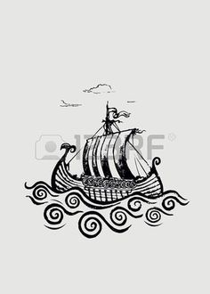 Find Viking Shippencil Drawing Illustrationhorizontal Banner Design stock images in HD and millions of other royalty-free stock photos, illustrations and vectors in the Shutterstock collection. Viking Ship Tattoo, Norse Tattoo, Viking Tattoos, Viking Drawings, Art Drawings, Pencil Drawings, Boat Drawing, Ship Drawing, Ink Illustrations