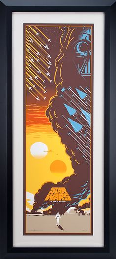 Star Wars Framed Serigraph by Eric Tan - Limited Edition