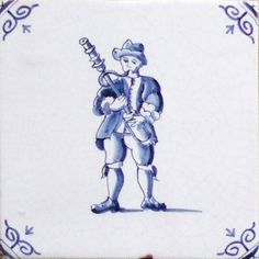 Delft tiles featuring Musicians