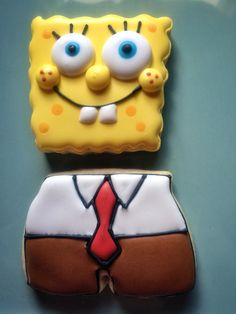 Sponge Bob Cookie. These were even gluten and dairy free!