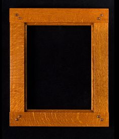 Bridle Joint Picture Frame -- quarter-sawn white oak -- available in stock & custom sizes -- Old Ways Limited -- #mission #craftsman arts and crafts style