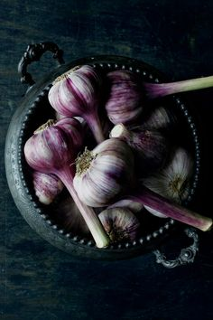 Garlic, purple.