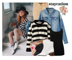 """Cozy Staycation Style with Casetify"" by enola-pycroft ❤ liked on Polyvore featuring Nanda Home, Oui, American Eagle Outfitters, M&Co, Casetify, Catarzi and Zara"