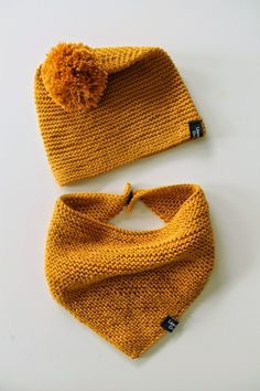 Here is a frequently asked help for the hat and scarf I ., Here is a frequently asked help for the hat and scarf I made for our girls. Knitting For Kids, Knitting Projects, Baby Knitting, Crochet Baby, Knit Crochet, Diy Bebe, Diy Hat, Baby Hats, Knitted Hats