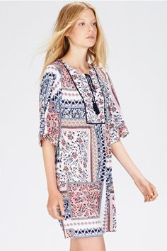 For Me - Dresses | Other Patchwork Print Dress | Warehouse