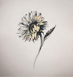Resultado de imagem para sunflower tattoo tumblr