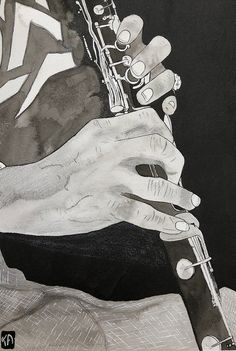 ©KA's Ink, jazz, illustration Illustrations, Jazz, Ink, Ink Drawings, India Ink, Abstract Backgrounds, Illustration, Character Illustration, Jazz Music