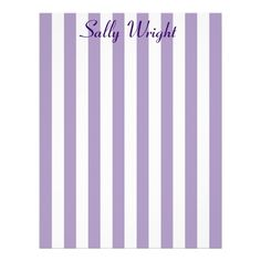Purple Stripes Letterhead
