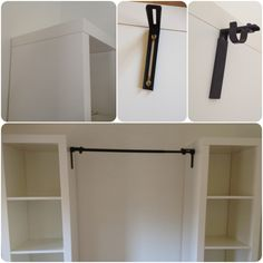 diy closet with shelves and curtain rods temporary closet, great for renters