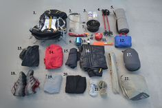 The gear we packed along for our July 2013 thru-hike on the John Muir Trail. #JMT #trailtime