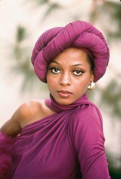 """Purple Turban...Dianna Ross"" Epitome ♥ ƸӜƷ ♥Diana-Beautiful♥ ƸӜƷ ♥"