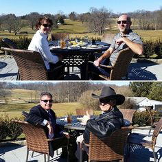 Everyone is enjoying the sunshine at the Union League Golf Club. The Margargals, Greg Montanaro and Ed Turzanski sure enjoyed lunch on the patio. #GolfCourse #Golf