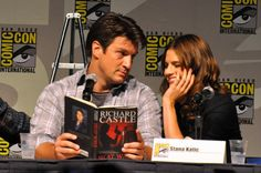 Nathan Fillion and Stana Katic. The cutest.