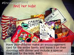 DON'T FORGET THE KIDS OF ILL PARENTS. Chronically ill moms and dads something feel like their kiddos get the short end of the stick. When the ill parent is going through a rough patch, remember the kids too. Stock a basket with some fun health snacks (or a few unhealthy ones) for easy breakfasts, dinners, and snacks they can make themselves. #beyondcasseroles