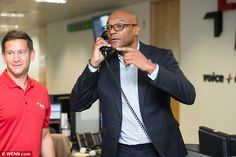 He's no fish out of water! Looking dapper in a fitted suit, Colin Salmon was…