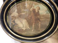 Renaissance Engraving in colour in a Gold by LaVieEnNoirGallery