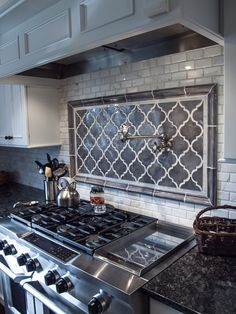 Kitchen Tiles Backsplash Behind Stove 59 Ideas For 2019 Kitchen Backsplash Ideas Backsplash ideas kitchen Stove Tiles Kitchen Redo, Kitchen Tiles, Kitchen Flooring, New Kitchen, Kitchen Stove, Backsplash For Kitchen, Kitchen Cupboard, Kitchen Styling, Stove Backsplash