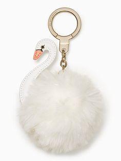 swan pouf keychain | Kate Spade New York