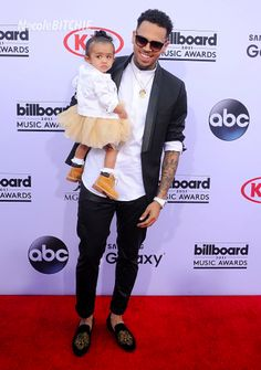 Chris Brown and Daughter Royalty at the 2015 Billboard Music Awards