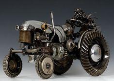 Scrap metal tractor by James Corbett