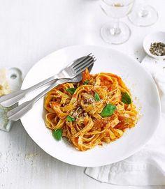 Spicy tomato and mackerel pasta - delicious. magazine
