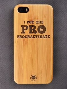 Buy PROcastinate Engraved Wooden Smartphone Case Online for Bombay Trooper, Wooden Phone Case, Bamboo Cutting Board, Laser Engraving, Smartphone, Iphone Cases, Iphone Case, I Phone Cases