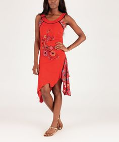 Look at this Red Paisley Handkerchief Dress on #zulily today!