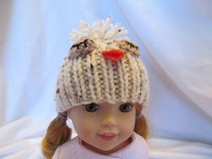 Give a Hoot ! This Owl Hat fits 14'' or 14 1/2'' Dolls, Great for Fall and Winter Wear, Play Hat , Everyday Wear, Winter Hat , Fun Owl Hat by SewManyThingsbyNancy on Etsy