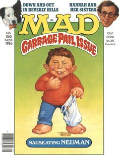 mad magazine in Books, Comics and Magazines Cover Pages, Album Covers, Mad Cartoon Network, Comic Book Covers, Comic Books, Mad Magazine, Magazine Covers, Hannah And Her Sisters, Garbage Pail Kids Cards