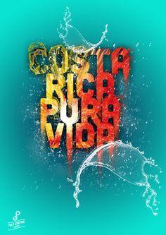 Costa Rica Pura Vida - Poster by Daniele Saccardi, via Behance