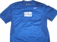 6f5f940d Alex Tanney Training Worn Official Indianapolis Colts #3 Nike Dri-Fit XL  Shirt